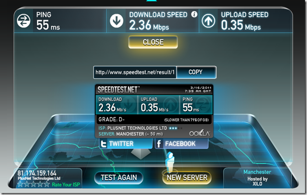 Current Broadband Speed