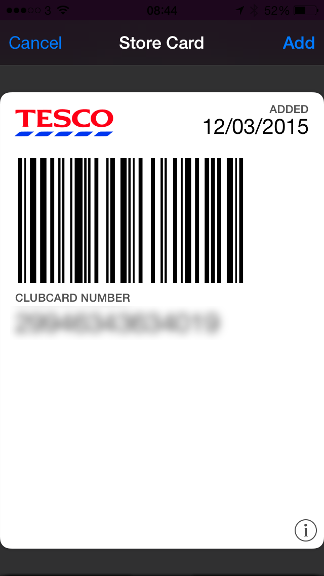 you simply select the card type use the camera to scan the barcode and heypresto youu0027ll have a passbook pass to add