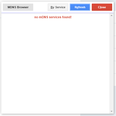 mDNS No Services Found