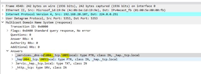 Wireshark first response