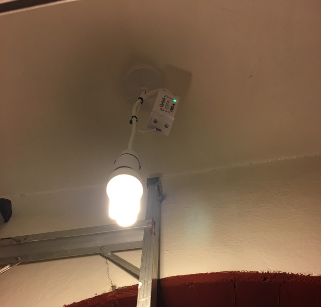 WiFi enabling my porch light with a Sonoff Basic Smart